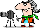 photographer artist cartoon illustration