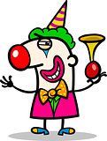 clown performer cartoon illustration