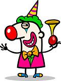 clown performer cartoon illustration