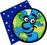 funny earth planet cartoon illustration