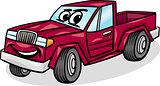 pickup car character cartoon illustration