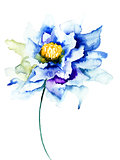 Decorative blue flower
