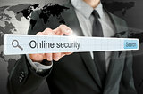 Online security written in search bar