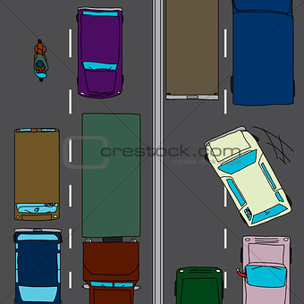 Aggressive Driver in Traffic