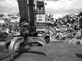 the iron claw of scrap yard