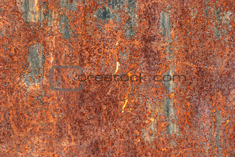 Weathered rusty surface