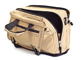 opened travel bag
