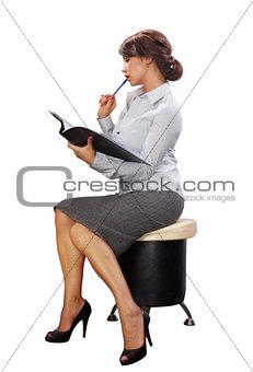 Business lady with black folder