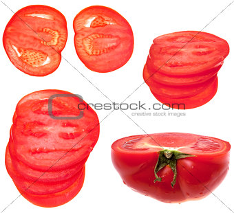 sliced red tomato