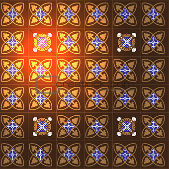 Tiles vector background