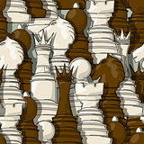 Chess pieces pattern