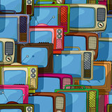 Seamless tv pattern