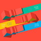Modern design info graphic template, vector Eps10 illustration.