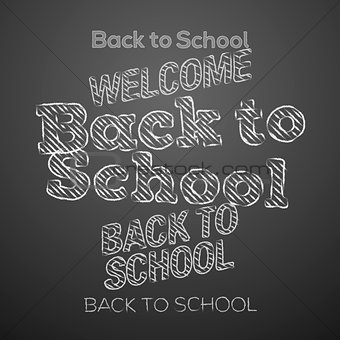 Back to school design elements, vector Eps10 illustration.