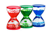 Red, green and blue gel hourglass