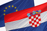 EU and Croatian close up