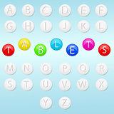 tablet alphabet