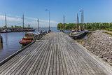 Jetty in the harbor of Zoutkamp