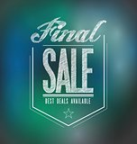 lights final sale poster sign banner illustration