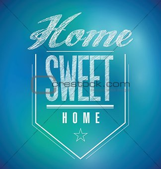 blue and green Vintage Home Sweet Home Sign