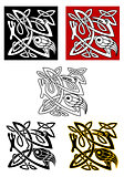 Ornamental birds in celtic style