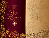 Elegant menu design in royal style