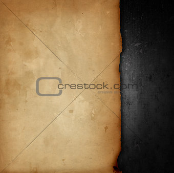 Old paper on grunge