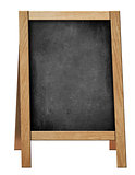 standing welcome blackboard or chalkboard