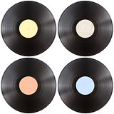 vynil gramophone record disk isolated