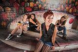 Group Pretty of Teen Girls