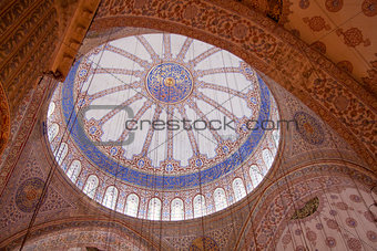 Ceiling in the Blue Mosque, Istanbul, Turkey