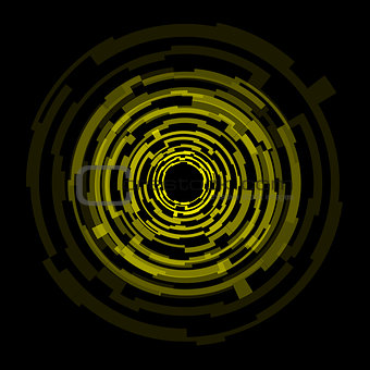 Abstract technology yellow circles background