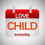 Love child everyday calendar icon