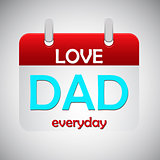 Love dad everyday calendar icon