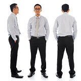 Asian businessman in different angle