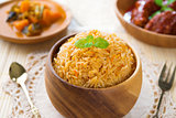 Indian meal biryani rice