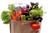 Healthy Eating in Shopping Bag