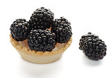 Cracker with Blackberries