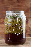 Spruce sprouts syrup - making of