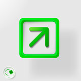 eco symbol, direction movement right and upwards