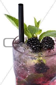 Mojito blackberry isolated