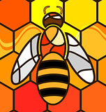 abstract background bee
