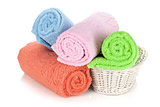 Multicolored towels