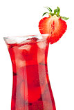 Strawberry cocktail with ice