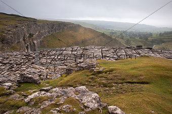 Limestone pavement, Malham Cove in Yorkshire Dales National Park