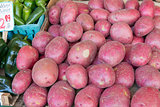 Red Skin Potatoes Stall Display