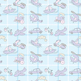 Baby Seamless Wallpaper Transportation