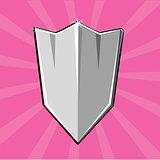 Shiny metal shield