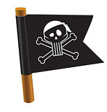 Pirate flag with jolly roger