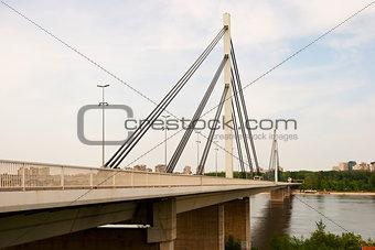 Brige of Liberty crossing the Dunabe river in Novi Sad, Vojvodin
